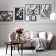Ria 2 személyes kanapé rózsaszín bársony