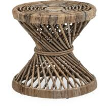 Ravenna lerakóasztal, natúr rattan
