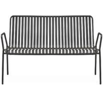 Lioni 2 üléses kerti kanapé, fekete fém