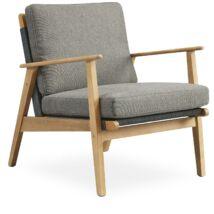 Bjorg kerti fotel, szürke, akác láb