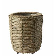 Betonie kaspó, natúr rattan, D28 cm