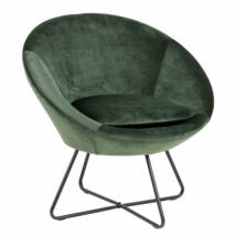 Center fotel, erdei zöld bársony
