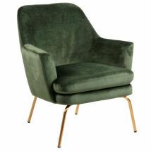 Safford fotel Erdei zöld bársony