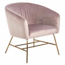 Ramsey fotel rózsaszín bársony