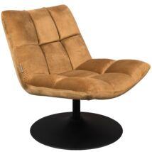 Bar fotel, aranybarna bársony szövet