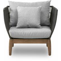 Orion kerti fotel, szürke színű poliészter párnákkal