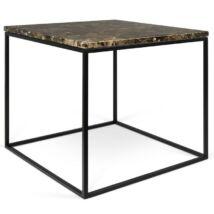 Gleam dohányzóasztal 50x50 cm, barna márvány