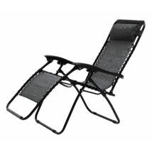 Saga napozó szék, fekete