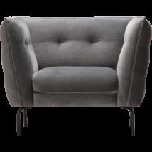 Asolo fotel, szürke bársony