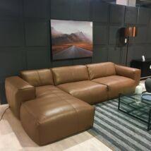 Fresno kanapé összeállítás, barna bőr