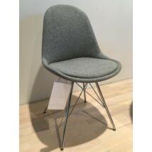 Donna szék, szürke szövet, króm láb