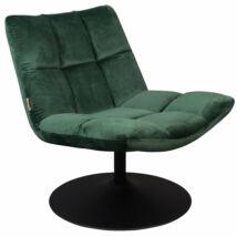 Bar lounge fotel, zöld bársony