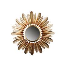 Feather tükör, ezüst/barna D80cm