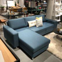 Devon Flex ágyazható kanapé, balos ottománnal, petrol
