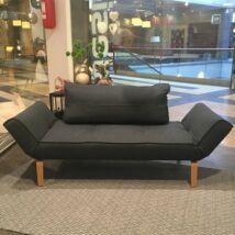 Zeal ágyazható kanapé, sötétkék szövet