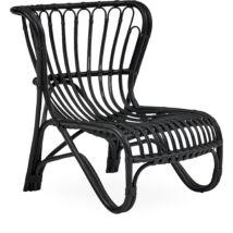 Sierra kerti fotel, feketére festett rattan