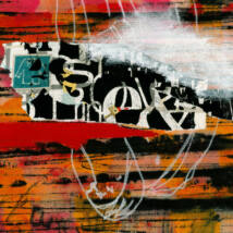 Sex'n Stripes vászonkép, 100x100cm
