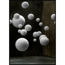 Green Room I kép, fekete keret, 40x50cm
