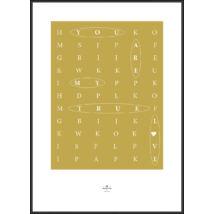 Graphic Living Design kép, fekete keret, 70x100cm
