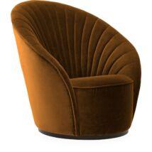 Tulip lux fotel, mustársárga bársony