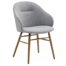 Ashton karfás design szék, világosszürke szövet