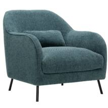 Petrona fotel, türkiz szövet