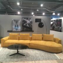 Samone jobbos kanapé, sárga szövet