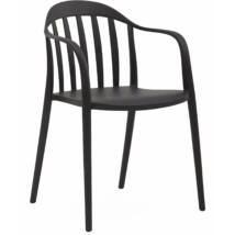 Portio kerti szék, fekete