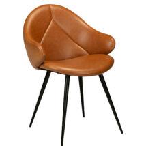 Manta design szék, vintage világos barna műbőr