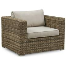Calvi kerti fotel, törtfehér, natúr rattan