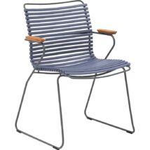 Click kerti szék, kék műanyag