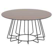 Casia dohányzóasztal, bronz üveg, fekete láb