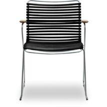 Click kerti szék, fekete műanyag