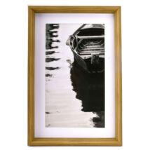 Cottage fekete-fehér kép, 40x60 cm