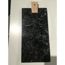 Vágódeszka márvány hosszúkás, fekete márvány
