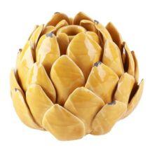 Artichoke váza, sárga kerámia