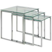 Katrine lerakóasztal 3db-os szett, üveg
