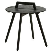 Hand-me kisasztal, fekete fa, H55cm