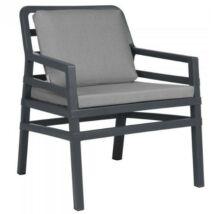 ARIA FIT kerti fotel, antracit szürke szövet