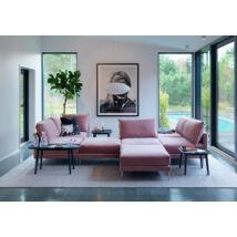 Alva kanapé púder rózsaszín bársony