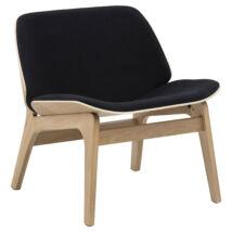 Aks 150 design szék, fekete, tölgy láb