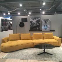 Samone balos kanapé, sárga szövet