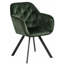 Silja szék, sötétzöld