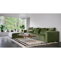 Liam 3 üléses kanapé, zöld
