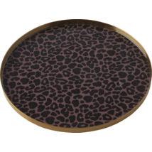 Pobourg szervírozó tál, leopárd mintás, D22 cm