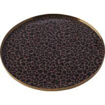 Pobourg szervírozó tál, leopárd mintás, D28 cm