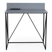 Tell íróasztal, szürke asztallap, fekete festett fém láb