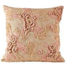Rose párna, púder rózsaszín, 45x45 cm