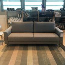 Cleveland/Andorra ágyazható kanapé, Nova, Light Grey, króm szinű láb