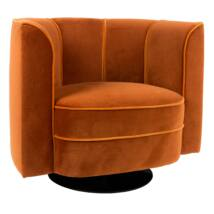 Flower fotel, narancssárga bársony